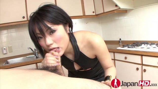 Tongue massage featuring Haruna Katou